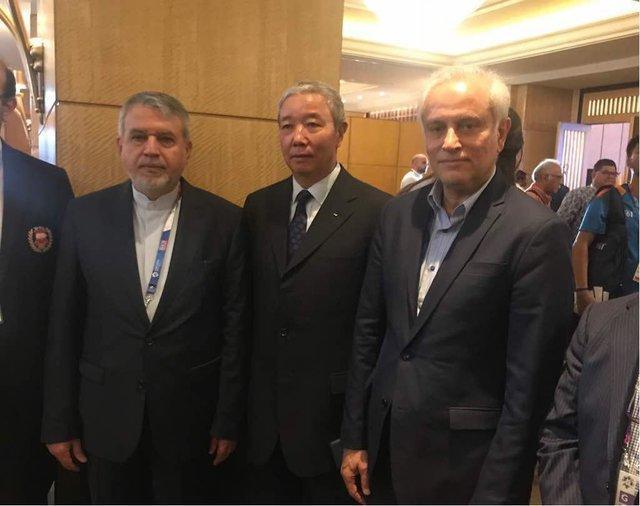 دیدار صالحی امیری با رئیس فدراسیون جهانی ووشو، قول حمایت برای بازپس گیری کرسی IOC