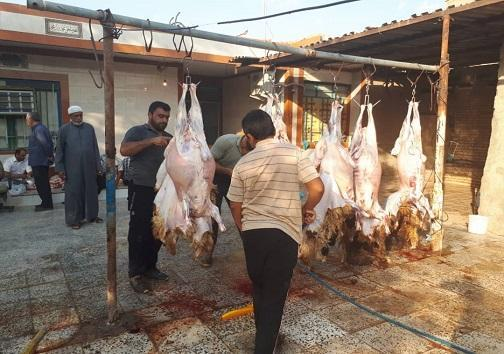 ذبح گوسفند در روز عید سعید قربان در آبادان و خرمشهر